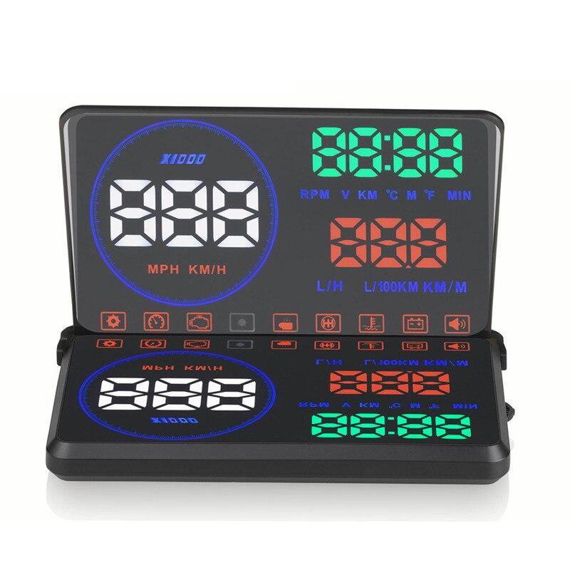 2017 hud M9 автомобиля скорости проектор универсальный моделирование автомобиля Дисплей проектор на лобовое стекло obd2 GPS цифровой спидометр си...
