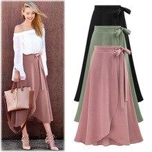 Womens Irregular Elastic Waist Plus Size A-line Skirts Hip Slim Medium-long Loose Plus Size Skirts Large Size 7200 Skirts
