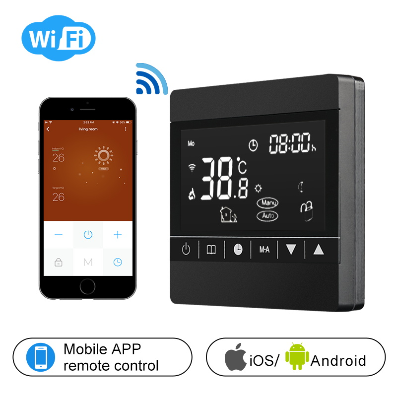 WIFI Thermostat Smart Thermostat Gas Boiler/Watre/Electric Floor Heat WIFI Controlled Thermostat Voice 16A/3A LCD