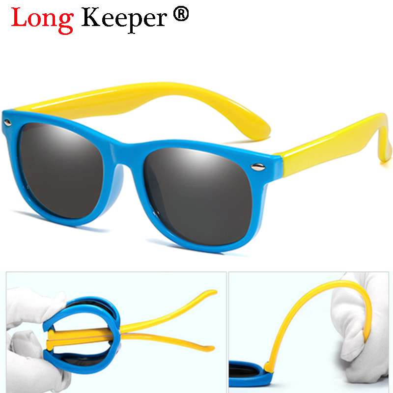 Long Keeper New Polarized Kids Sunglasses Boys Girls Baby Infant Fashion Sun Glasses UV400 Eyewear Child Shades Gafas Infantil