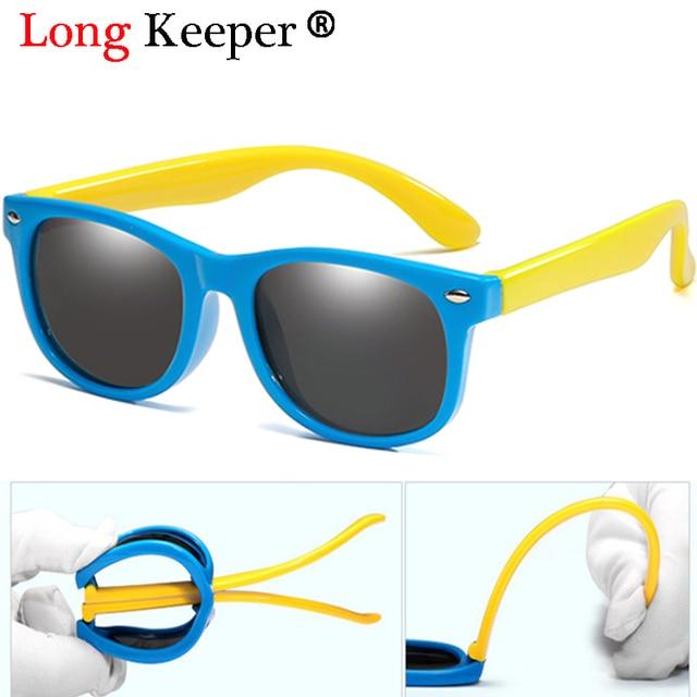 a524c0e9b Longo Goleiro Nova Infantil óculos de Sol Da Moda Óculos Polarizados óculos  de Sol Dos Miúdos