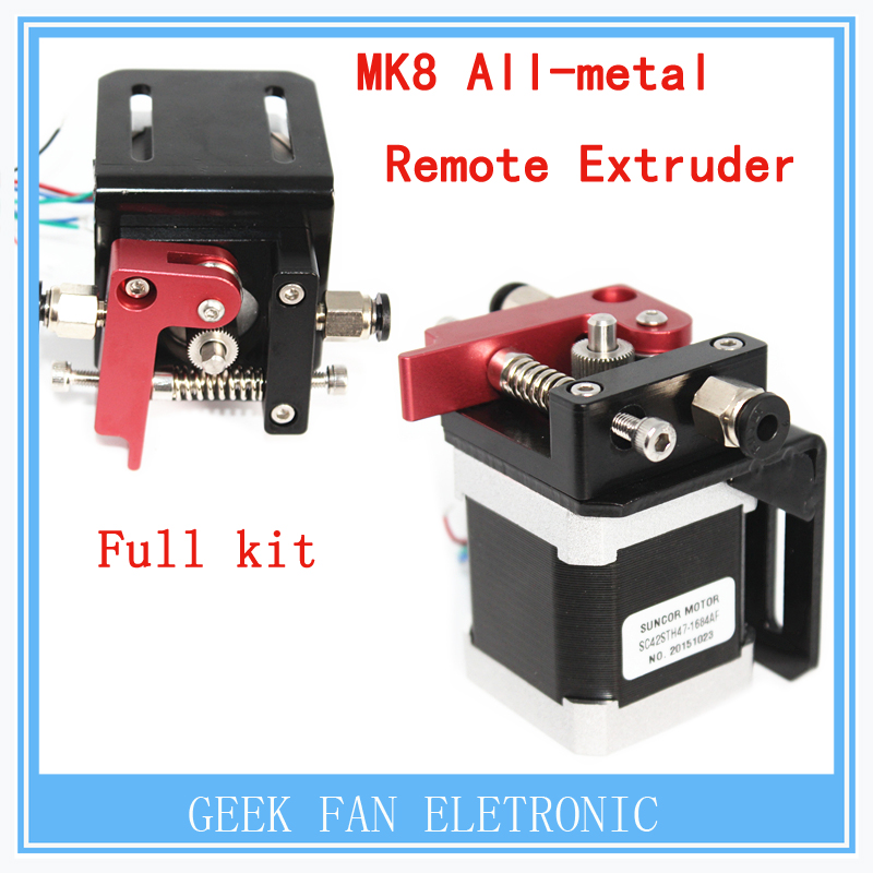 ФОТО 3D printer accessories MK8 all-metal remote extruder full kit with Nema 17 1.75mm / 3mm / supplies extruder Accessories