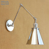 Chrome plated Wall Lamps Wall Mounted Sconces Modern Wall Sconce Lustre Metal Painted Silver Wall Light Dream Master