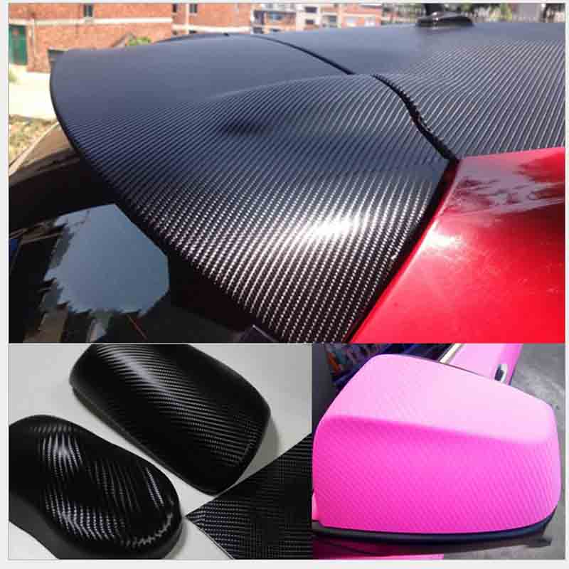 30*152CM Waterproof Car Motorcycle Sticker Car Styling 4D Carbon Fiber Vinyl Wrapping Film Auto Car Accessories Bubble Air Free carbon fiber vinyl film wrapping scraper tools bubble window wrapping film squeegee scraper car styling stickers accessories