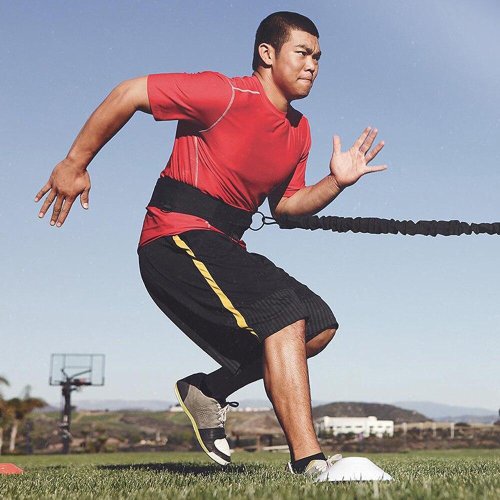 Тренировка скорости в футболе взрывоопасная сила футбол тренировочный костюм сопротивление Traniner полосы Бег тренировки тянуть веревку 360 с... - 3