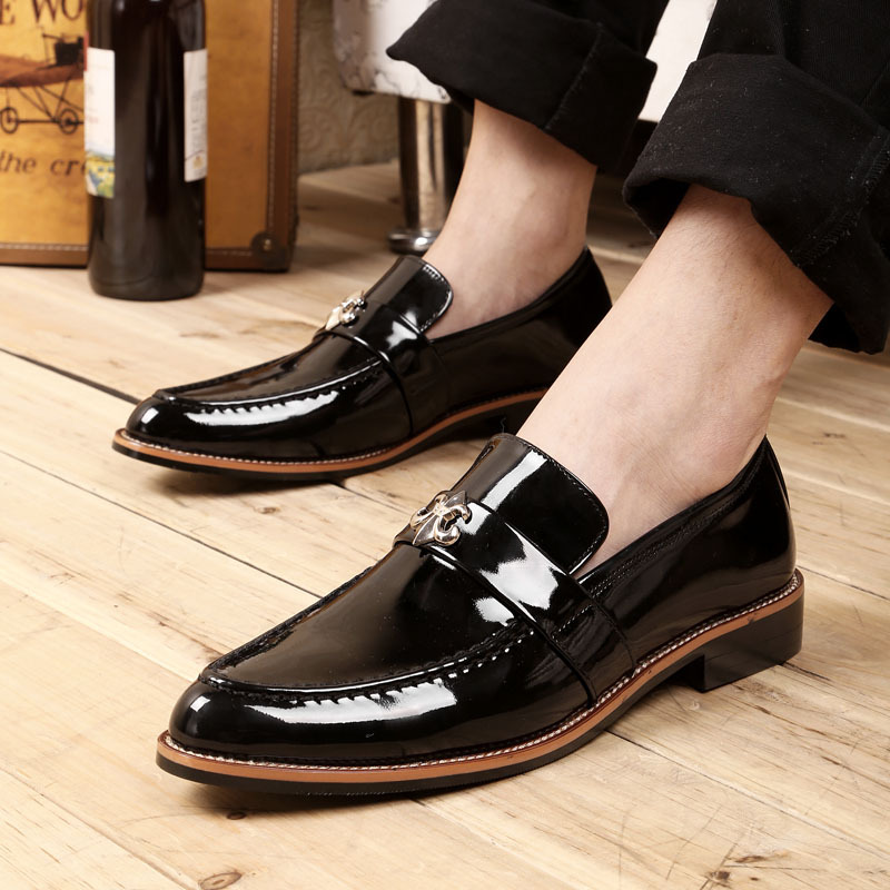 ФОТО  men's lear shoes are  new spring shoes   set foot pointed shoes
