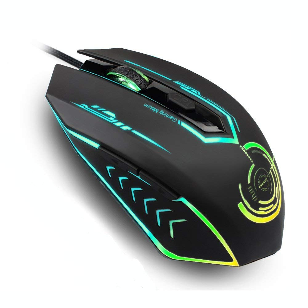Programmable 6 Buttons 7 colors LED Optical USB 2.0 Gaming Mouse Mice 3200 DPI