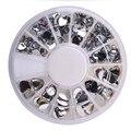 Melocotón en Forma de Corazón Rhinestone Crystal Nail Art Decal Consejos Glitters Pegatinas Para Uñas Decoración de uñas de Arte Encanto Espárragos de Spike