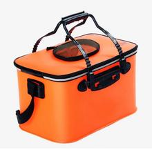Mounchain Fishing Portable EVA Folding Bucket Water Tank Fish Storage Box for Live fishing tackle boxes