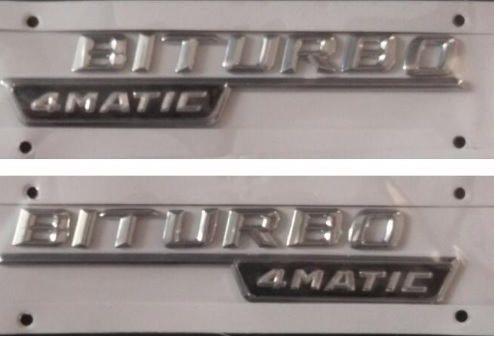 Paire de BITURBO 4 MATIC lettres coffre emblème Badge autocollant Bi turbo 4matic