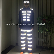 Fashion Colorful Led Light Robot Suit LED Luminous Clothing Dance Costume Stage Props For Party Supplies
