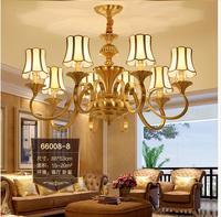 European Candle Copper Modern Chandelier Light Antique Brass Design LED Lighting Modern Decoration Lamp Study Light Bedroom Lamp