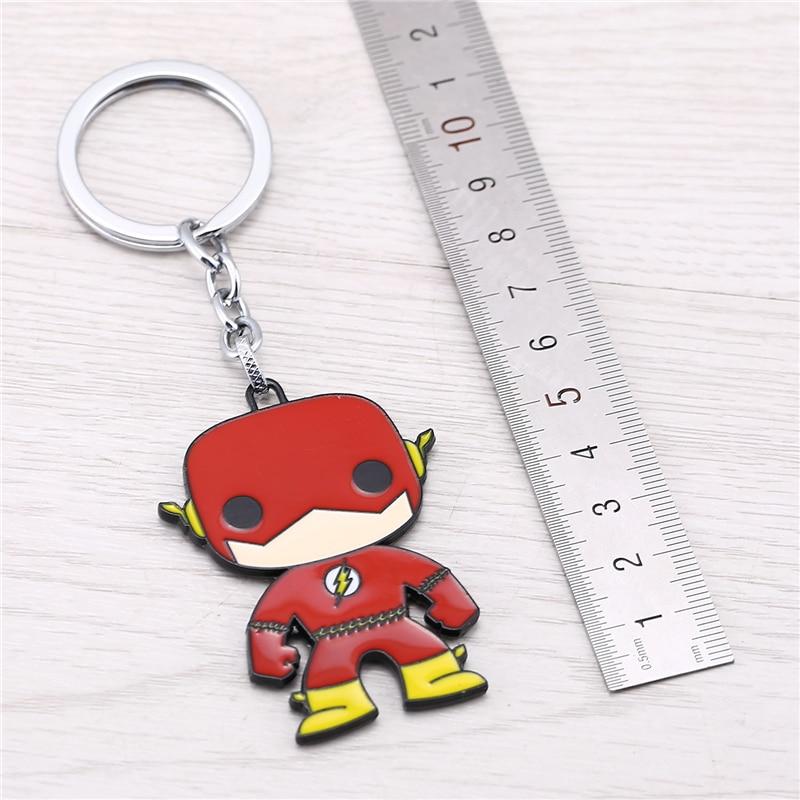 J Store for Flash Cartoon Super Hero Zinc Alloy Keychain Կանանց - Նորաձև զարդեր - Լուսանկար 2