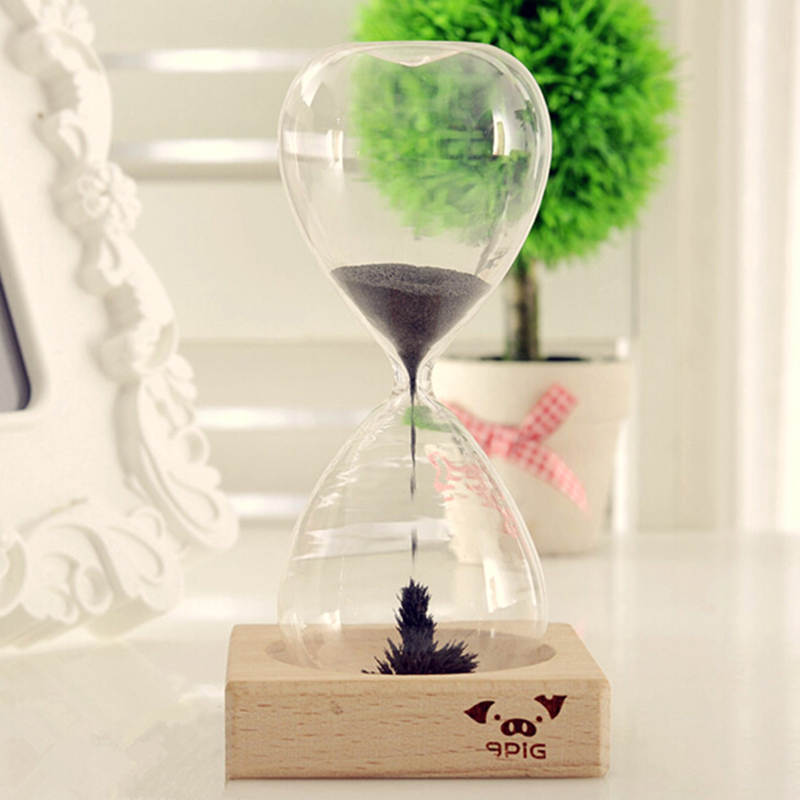 New Arrival Ampulheta Magnetic Sand Hourglass Decorative Household ItemsCharacteristics Of Creative Arts And Crafts Gifts 2 In Hourglasses From Home