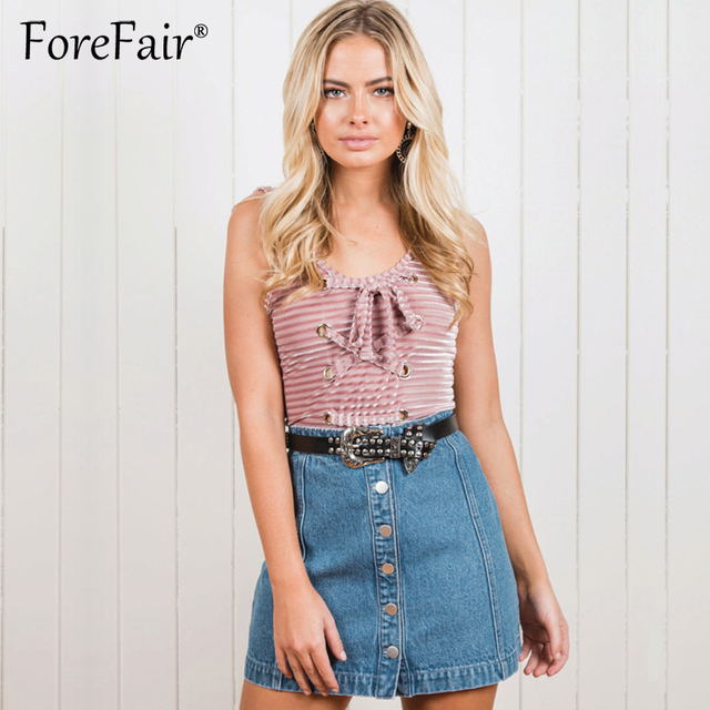 9f86fa20a2f Forefair Sexy Lace Up Bodysuit Women 2018 Summer Backless Slim Tops Playsuit  Bodycon Rompers Womens Jumpsuit Overalls