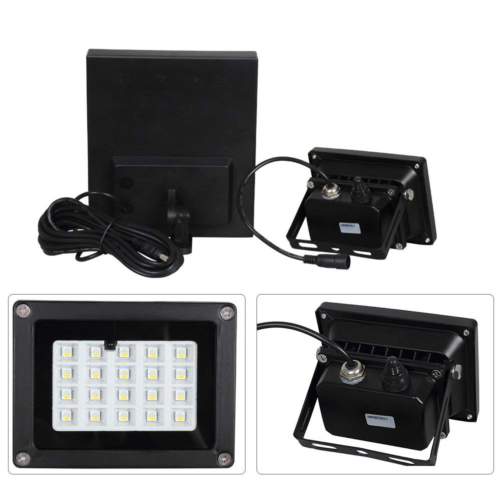 [DBF]LED Solar Flood Light 20 LEDs RGB Color Changing Outdoor Security Wall Lamp IP65 Remote Controlled Garden Solar Spotlight