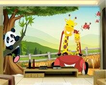beibehang Custom high quality seamless wallpaper giraffe child cartoon children room backdrop wall papel de parede papier peint