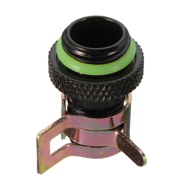Conexión de lengüeta para radiador de ordenador disipadores térmicos de refrigeración por agua de cobre, abrazadera de enfriamiento para Turbing G1/4 de identificación de 3/8 pulgadas, cromado DEL
