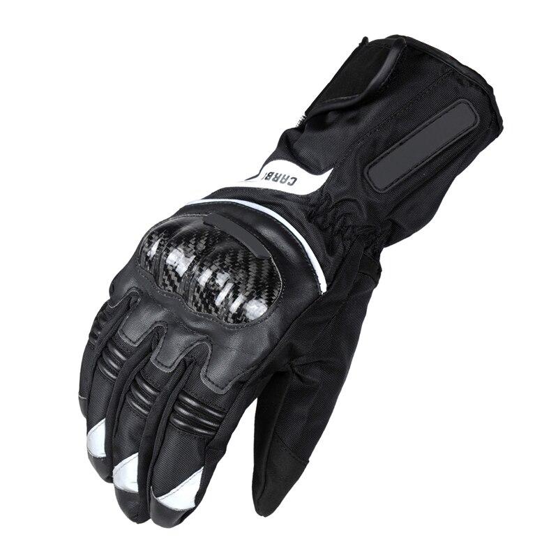 Kohlefaser Motorradhandschuhe Warmen Winddicht Wearable Wasserdichte Schutzhandschuhe Guantes moto Luvas de Moto luva motoqueiro