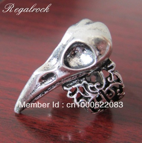 Regalrock Hot Fashion Crow Nest Oddities Bird Skull Ring