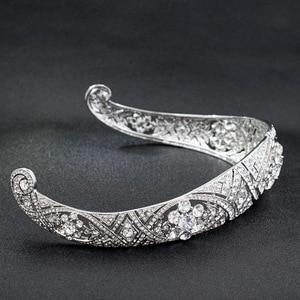 Image 3 - Royal Replica Tiara Met Echte Oostenrijkse Kristallen, Prinses Meghan Wedding Bridal Tiara Crown Hoofddeksels HG078