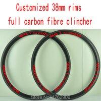 2Pcs Newest MAVIC COSMIC R Adhesive Stickers 700C 50mm Clincher Rim Road Bicycle Matte 3K Full