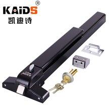 цена на KAIDS Single Iron Paint Fired Rated Exit Device Push Panic Bar Lock