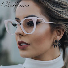 Bellcaca Eyeglasses Spectacle Frame Women Cat Eye Computer Optical Glasses Myopia For Ladies Female Transparent Clear Lens BC139(China)