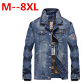 9XL 8XL 6XL 5XL 4XL denim jacket brand 100%cotton casual mens jean dark blue solid coat male clothing fashion free delivery