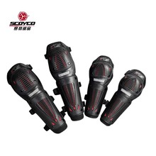 2017 Summer New SCOYCO motocross motorcycle riding knee Elbow pads K10H10-2 motorbike kneecap Elbow pads made of PP  FREE SIZE