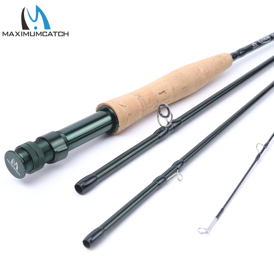 Maximumcatch 3/4/5/6/7/8/10 WT Fly Rod Carbon Fiber Fast Action Fly Fishing Rod With Hard Plastic Tube Fly Fishing Rod japan imported sichuan carbon fishing rod 3 6 4 5 5 4 6 3 meters ultra light ultra hard 28 rod