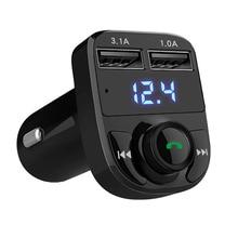Bluetooth Car Kit FM Transmitter Handsfree Calling Car MP3 Audio Player 5V 4.1A Dual USB Car Phone MP3 Music Support TF Card bt 760 bluetooth fm transmitter car kit mp3 player support mic call