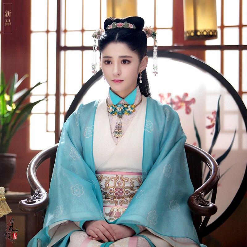 Li Xin Ai 2 Designs Rich Maid Costume Hanfu Ming Song Dynasty Female Costume for TV