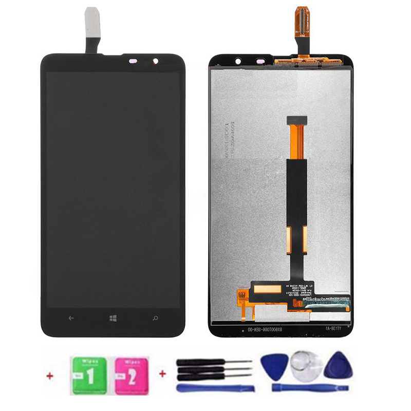 ФОТО Original 100% test LCD Touch Screen And Digitizer Assembly For Nokia Microsoft Lumia 1320 Black