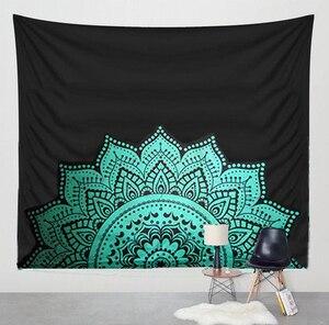 Image 5 - Nuevo estampado de tapiz de loto mándala Bohemia, tapiz colgante de pared para decoración de pared, tapiz Hippie, estera de playa, estera de Yoga