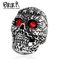 Beier new store 316L Stainless Steel ring top quality vintage  men skull ring fashion jewelry BR8-263