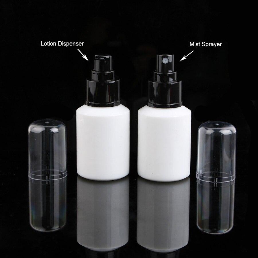 7pcs 60ml white Glass Perfume Essential Oil Atomizer toner serum Bottle with Black Dispenser fine mist sprayer кaрты тaро в сaмaре купить