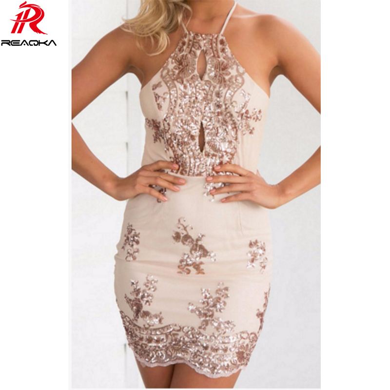 HTB1HPsdPVXXXXcaaXXXq6xXFXXXP - FREE SHIPPING Women Halter Bandage Backless Rose Gold mini dresses Floral JKP249
