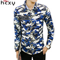 2016 Autumn clothing Men casual camouflage shirt men 100% Cotton Long Sleeve Army Green Mens Dress Shirts Military Camo Clothes