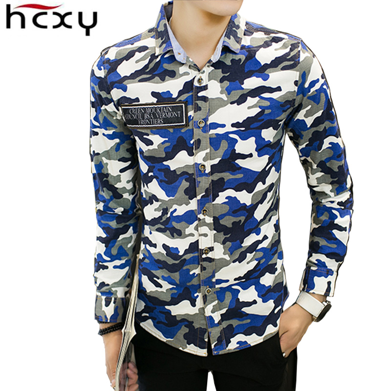 2017 autumn clothing men casual camouflage shirt men 100 for Mens 100 cotton long sleeve t shirts