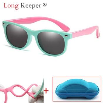 LongKeeper Children Sunglasses Polarized Kids Child Safety Sun Glasses UV400 Eyewear Eyeglasses High Quality Baby With Case Box