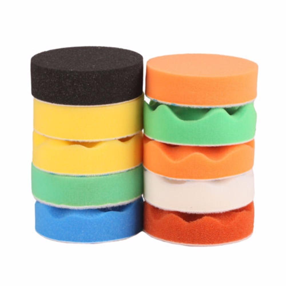 "10 Pieces Set Gross Polishing Buffer Pad Set Buffing Pad: 4""(100mm) Polishing Pad Buffing Polishing Pad Set For Car"