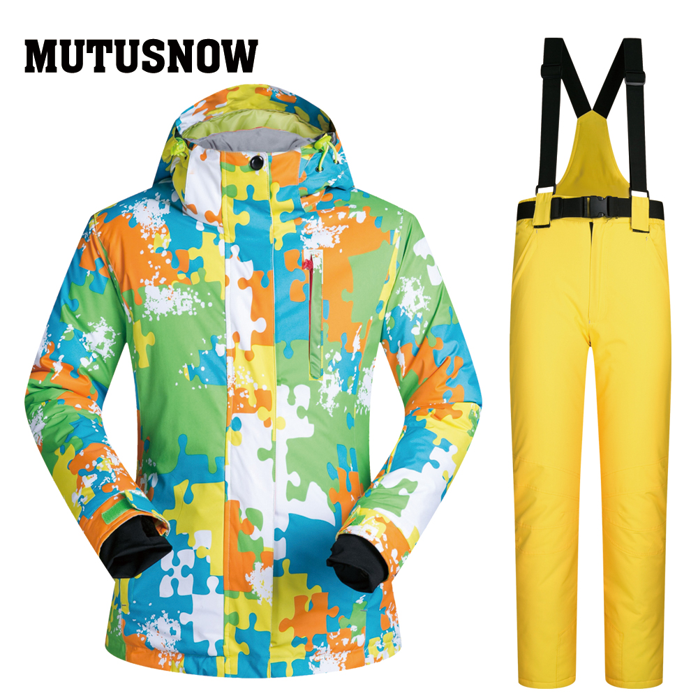 Ski Suit Women Brands Outdoor Sports Windproof Waterproof Thermal Snow Jacket Pants Skiwear Winter Skiing And Snowboarding Suits skiwear ski suit women new windproof waterproof thermal snow pants sets ski parka skiing and snowboarding suit jacket snowsuits
