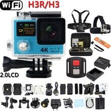 """Original H3R/H3 Remoto WiFi Cámara de La Acción 2.0 """"doble Pantalla Ultra HD 4 K Casco de Buceo submarino Cam ir impermeable cámara pro"""