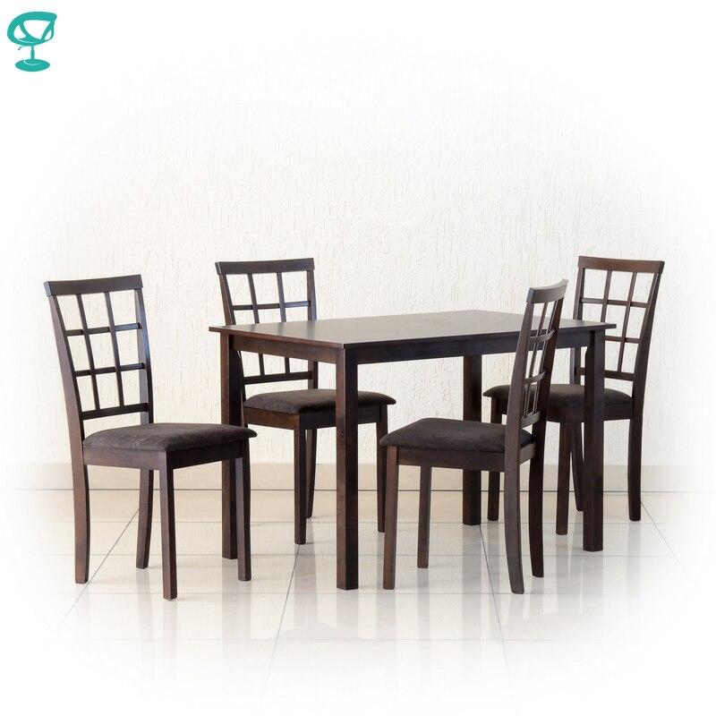 Set301Wenge4S3 ensemble Table en bois Barneo T-301 1 pièces chaise en bois Barneo S-3 4 pièces meubles de cuisine wenge livraison gratuite en russie