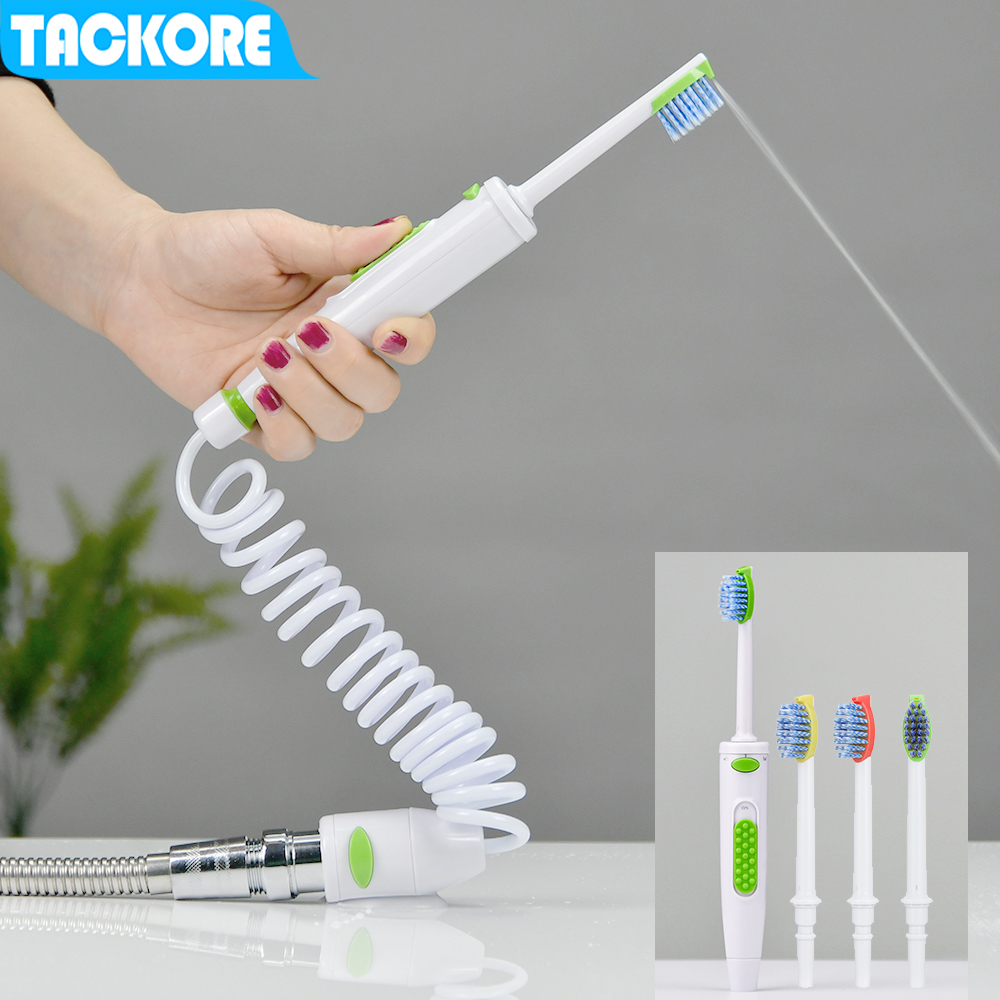 Tackore Braces Faucet Oral Irrigator Oral Flosser Orthodontic Toothbrush Dental Teeth Cleaning Braces Water Floss Washing image