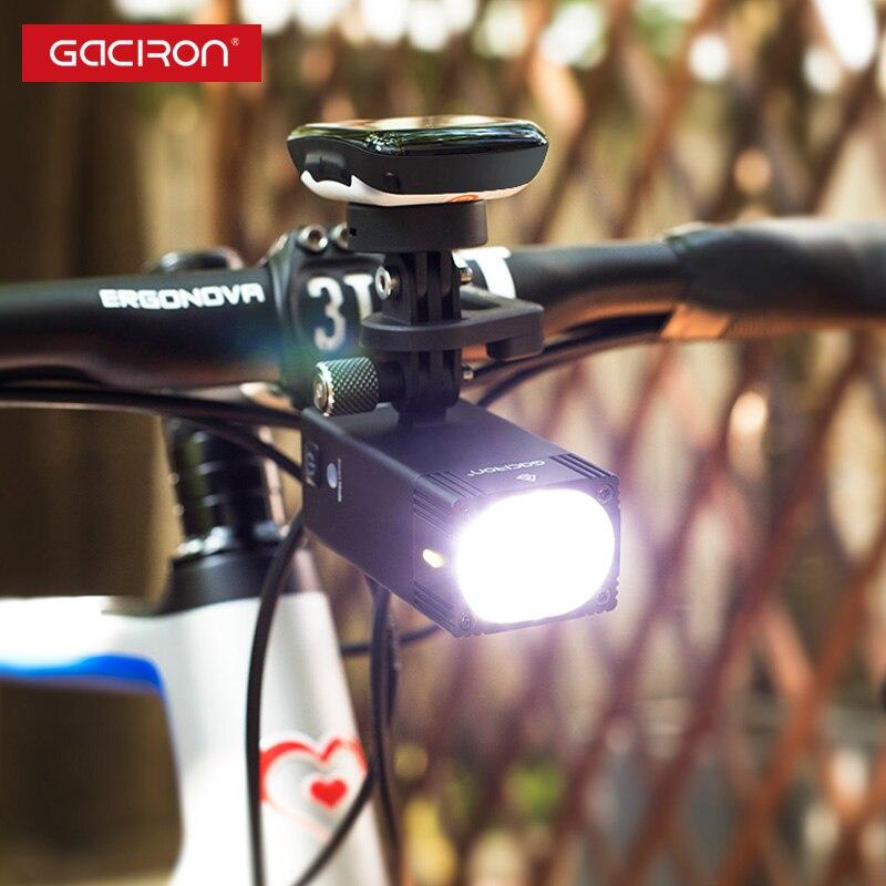 Gaciron Intelligente V7D serie 1000 1600 Lumen Luce Della Bici di Montagna Go Pro Mount Ricaricabile IPX6 Luce Della Bicicletta Per La Gara