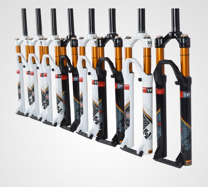 original stuote XX RC2 gold tube magnesium alloy 26 27.5 100 120 travel air suspension mtb bicycle fork shock magnesium aluminum alloy bicycle fork mountain air bike front shock 26 27 5