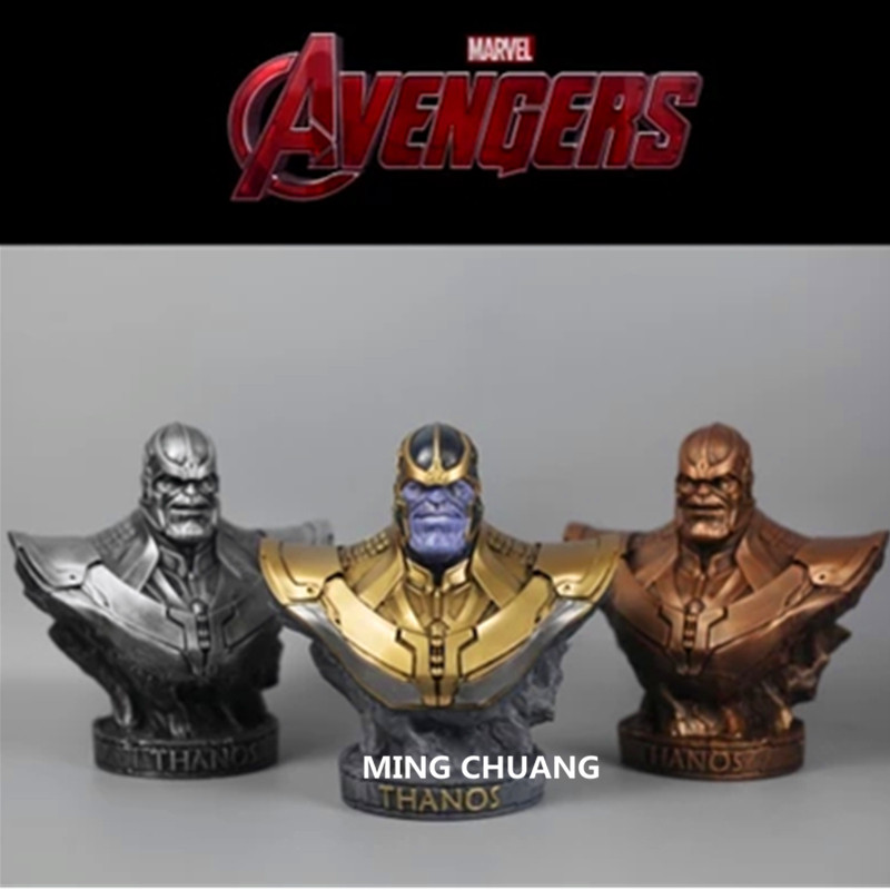 Avengers Infinity War Statue Superhero Iron Man Black Panther Bust Thanos Enemy Half-Length Photo Or Portrait Action Figure Toy marvel avengers statues ironman ant man thanos black panther action figure home decoration gift ant man antman iron man statue