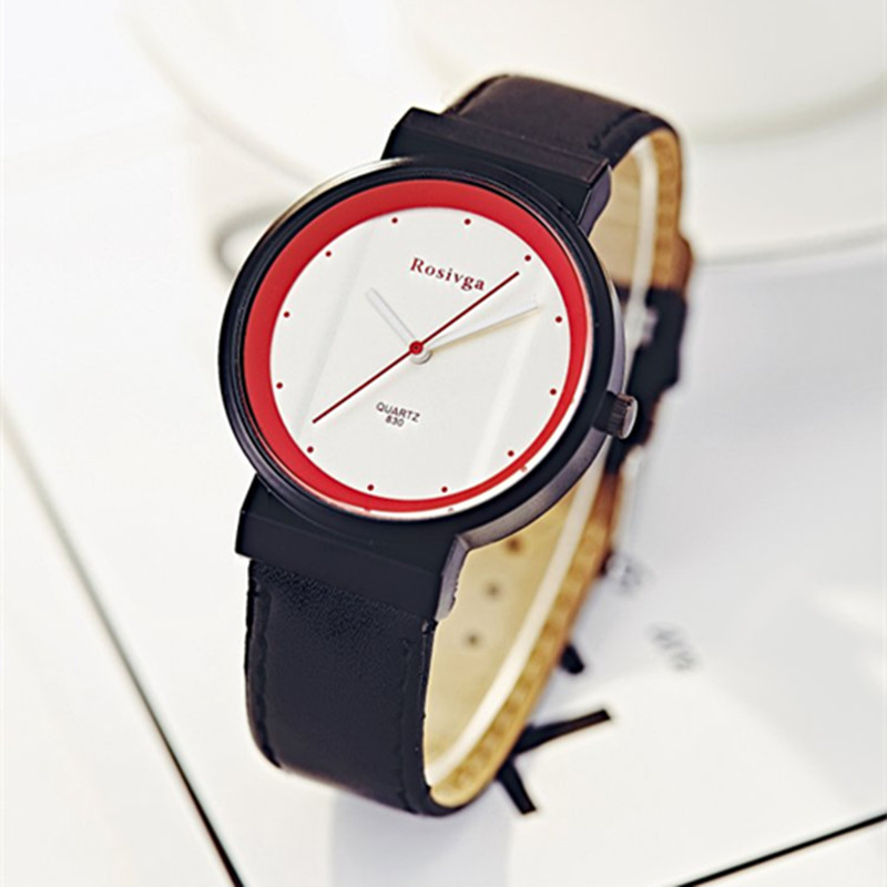 Hot Fashion Creative Watches Women Men Quartz-watch 2019 JW Brand Unique Dial Design Lovers' Watch Leather Wristwatches Clock